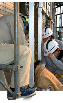 建物を強くする鉄筋工事